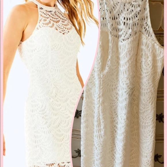 Nwt Lilly Pulitzer Kenna White Lace Dress Sz 8 Nwt